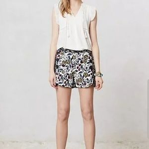 Anthropologie cartonnier floral shorts
